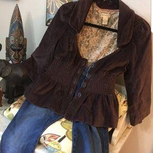 Elevenses Victorian Style Velvet Jacket